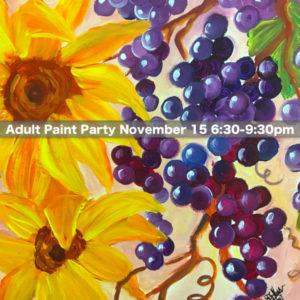 Adult Paint Party @ dabble Art Center